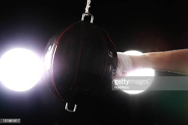 young man training,boxing,close-up