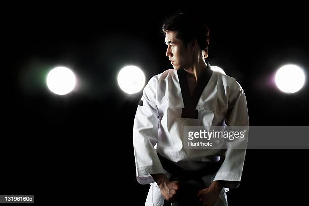 young man training,taekwondo