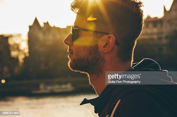Young man under the sunlight