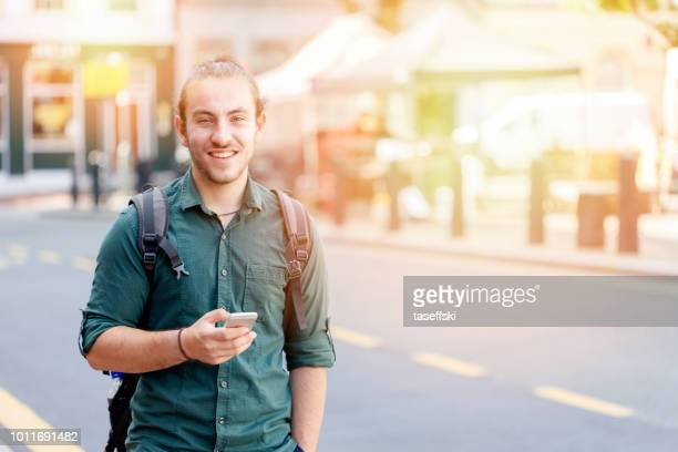 Young Man Using Smartphone