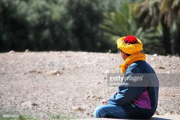 Young man waiting