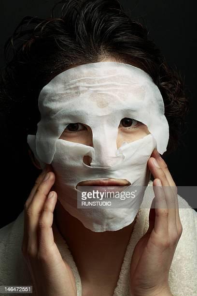 young man wearing facial masks
