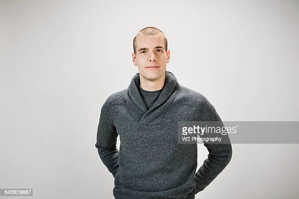 Young man wearing sweater