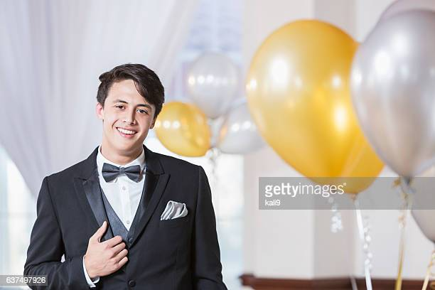young man wearing tuxedo - prom stock pictures, royalty-free photos & images