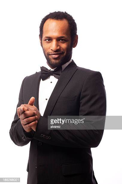 young man with a  bow tie - tuxedo stock pictures, royalty-free photos & images