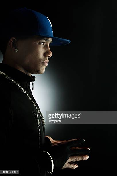 Young man with baseball cap _ vertical