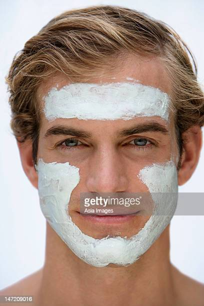 young man with face mask