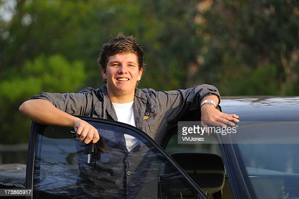 Young Man with First Car Keys