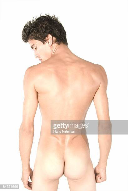 Young man with his back turned.