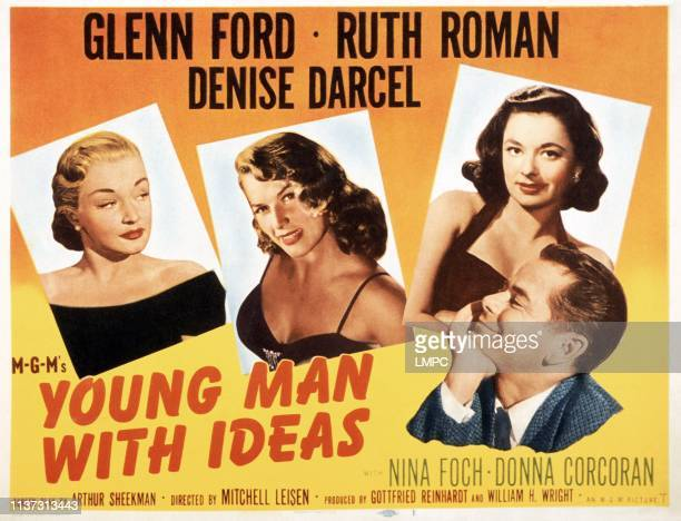 Young Man With Ideas poster US poster from left Nina Foch Denise Darcel Ruth Roman Glenn Ford 1952