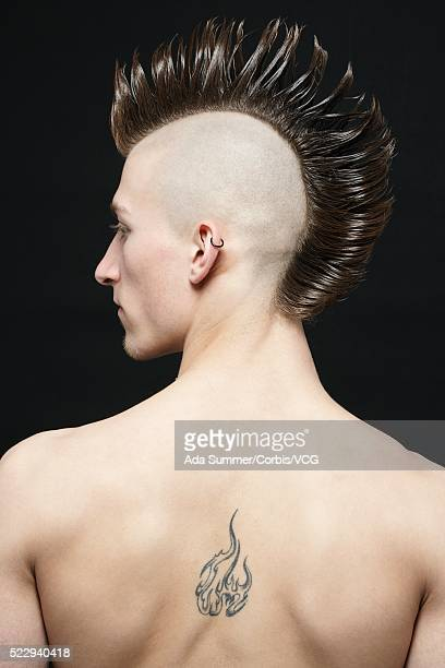 Young man with mohawk