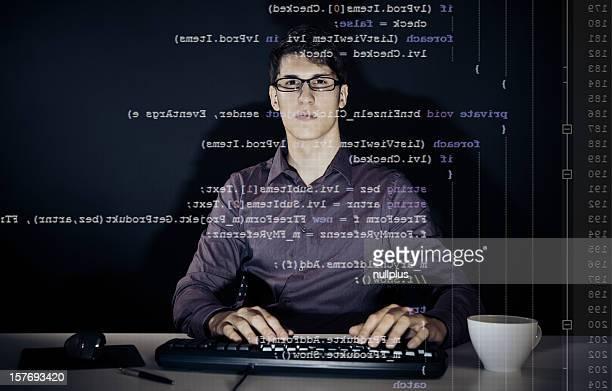 若い男性#プログラムを書く c