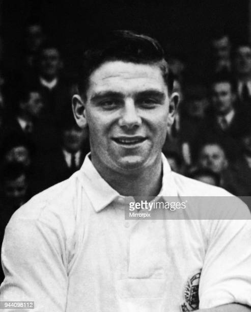 Young Manchester United and England footballer Duncan Edwards pictured before an international youth match, October 1954.