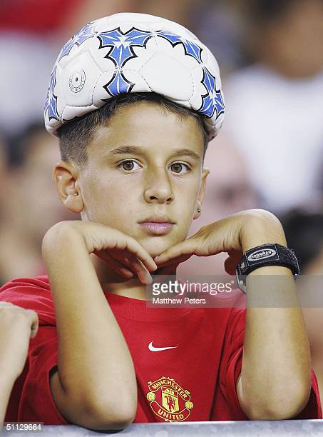 Young Manchester United fan watches the Champions World Series pre-season friendly match against Celtic, at Lincoln Financial Field,on July 29 2004...