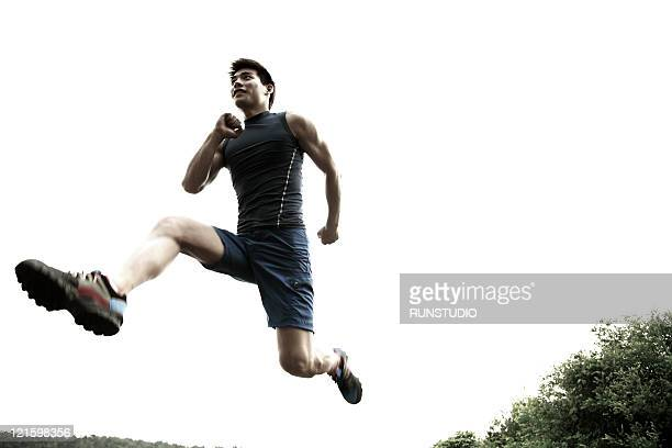 young man,outdoor exercise,running