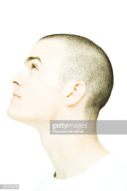 """""""Young man's head, looking up, profile"""""""