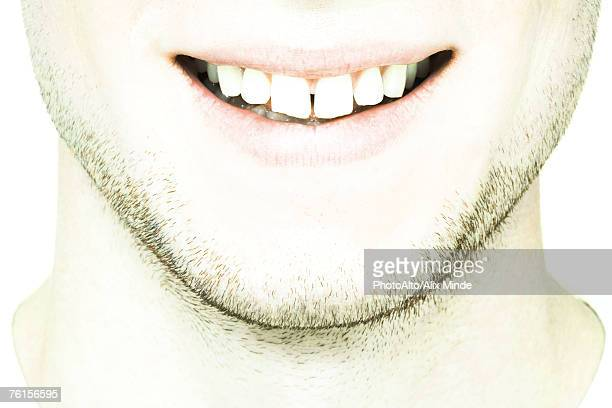 'Young man's lower face, extreme close-up'