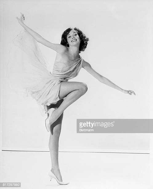 Young Mary Tyler Moore in a dance pose, circa 1965.