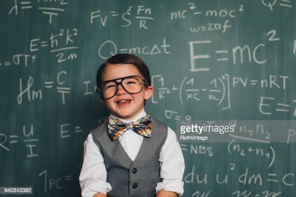 Young Math Nerd Professor in Classroom