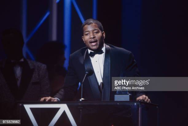 Young MC receiving award on the 17th Annual American Music Awards Shrine Auditorium January 22 1990