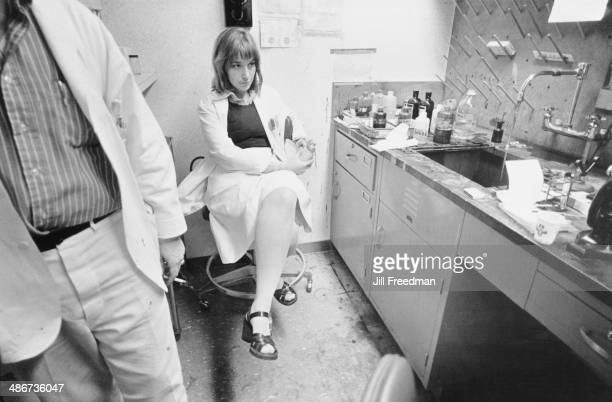 A young medical student at the Bellevue Hospital in Manhattan New York City 1976