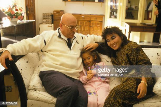Young Melodie Nakachian after her abduction with parents singer Kimera and Raymond Nakachian on November 21 1987 in spain