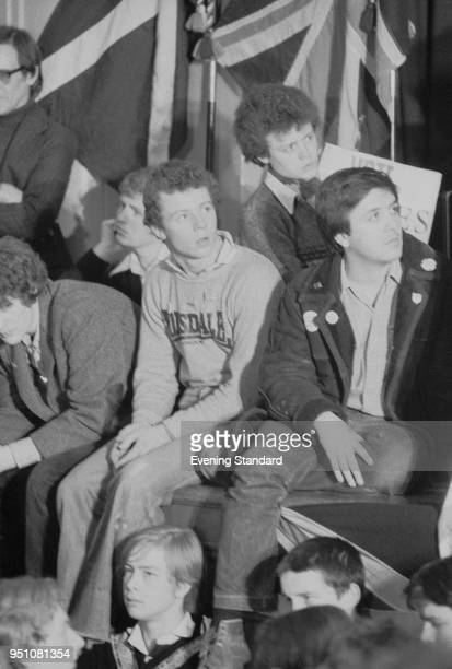 Young member of the farright political party National Front at a rally UK 28th February 1978