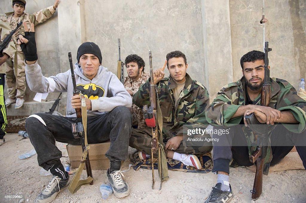 Clashes between Libyan Dawn and Zintan in Kikla, Libya : News Photo