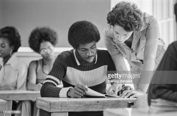 Young men and women who have emigrated to the UK receive an education at a school or college, 26th June 1973.