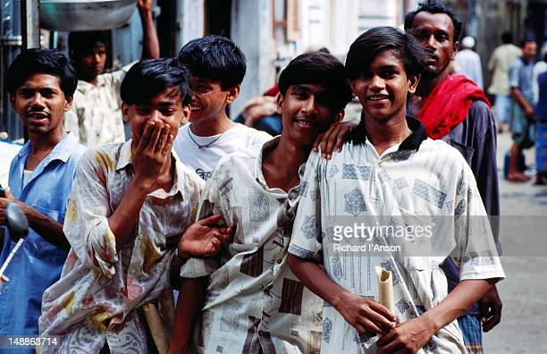Young men in Dhaka.