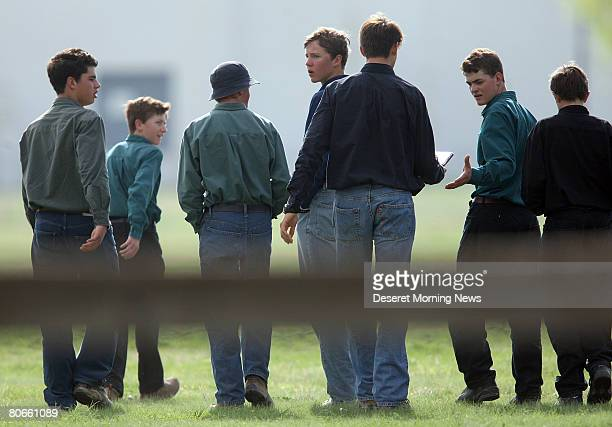 Young men of the Fundamentalist Church of Jesus Christ of Latter Day Saints who were removed from the Yearning for Zion compound in Eldorado, Texas...