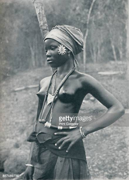 A young Mende girl Eastern Sierra Leone 1912 From The Living Races of Mankind Vol II [Hutchinson Co London 1912] Artist Cecil H Firmin