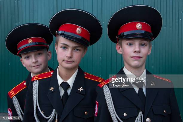 Young military cadets on Palace square