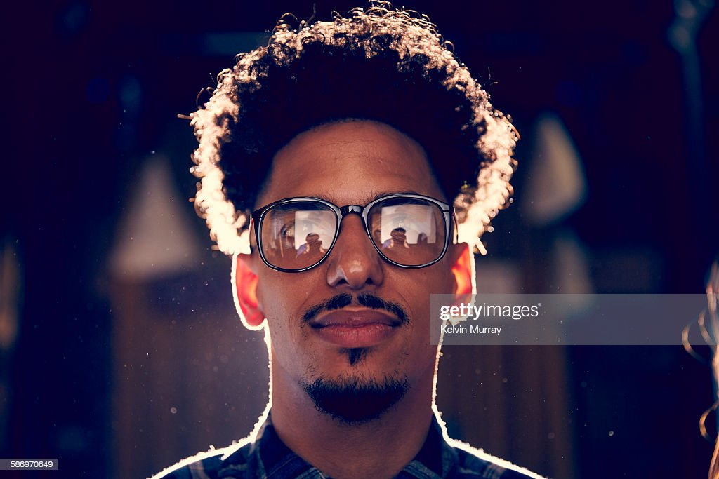A young mixed race creative male professional : Stock Photo