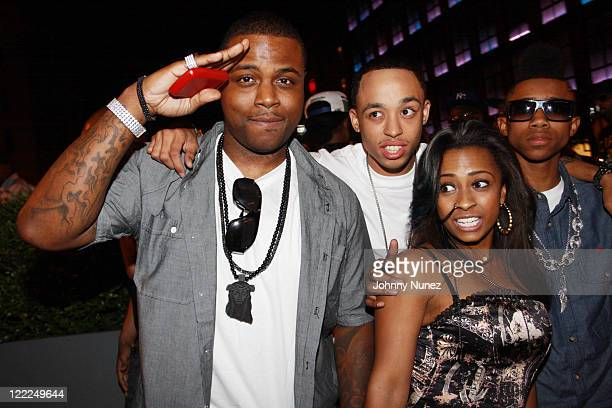 Young Money Entertainment recording artists Jae Millz Cory Gunz Shanell and Lil Twist attend Drake x Crown Royal x 5Ninth at 5Ninth on June 15 2010...