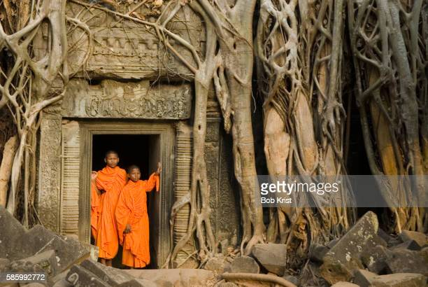 Young Monks at Ta Prohm