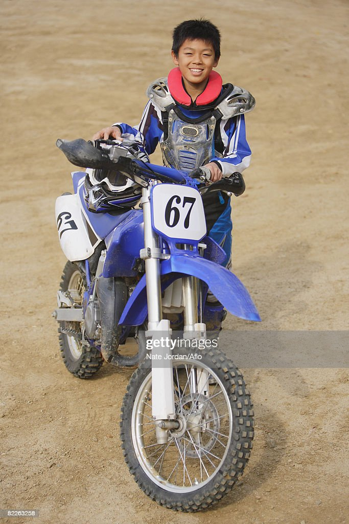 Young Motocrosser : Stock Photo