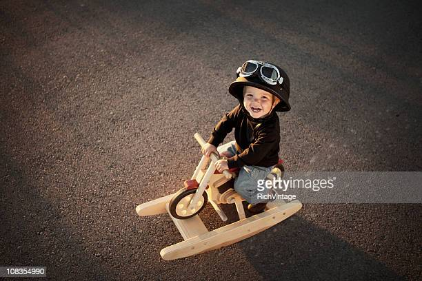 Young Motorcycle Rider