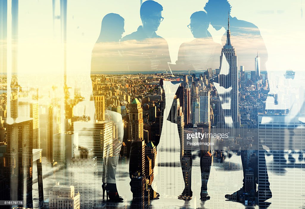 Young movers and shakers in the city : Stock Photo