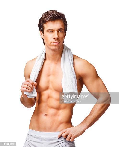 筋肉の若い男性