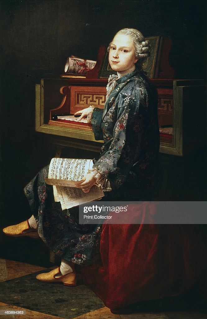 'Young Musician at the Harpsicord'. : News Photo