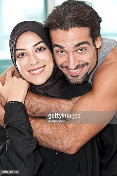 young muslim couple - palestinian photos stock pictures, royalty-free photos & images