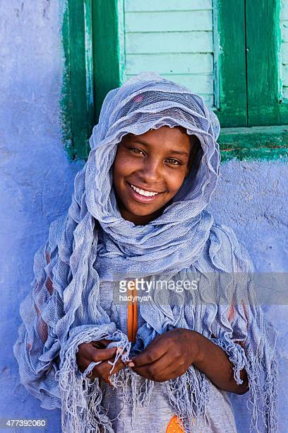 Young Muslim girl in Southern Egypt