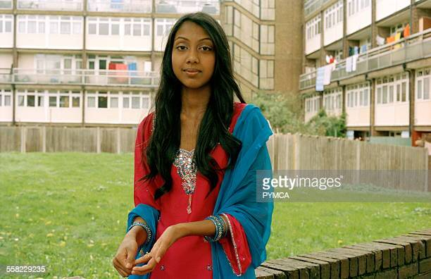 Young Muslim girl in Whitechapel East London during the holy month of Ramadan London England October 2006