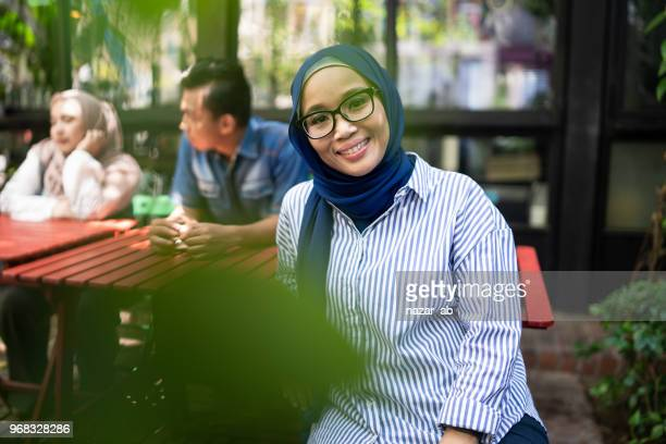 Young muslim woman in leadership role.
