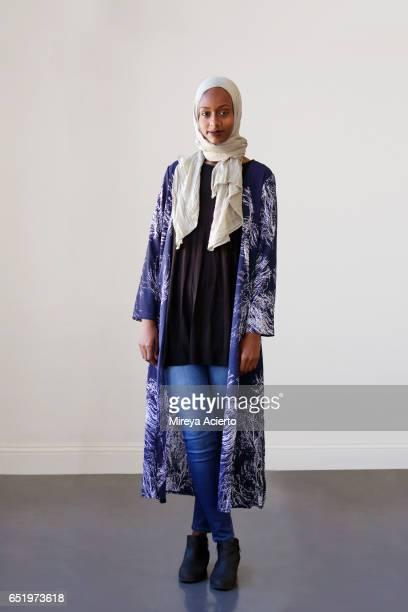 Young Muslim Woman in studio setting