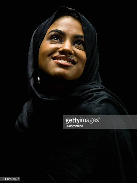 young muslim woman portrait - iranian culture stock photos and pictures