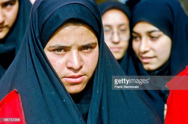 Young muslim women wearing the chaddor