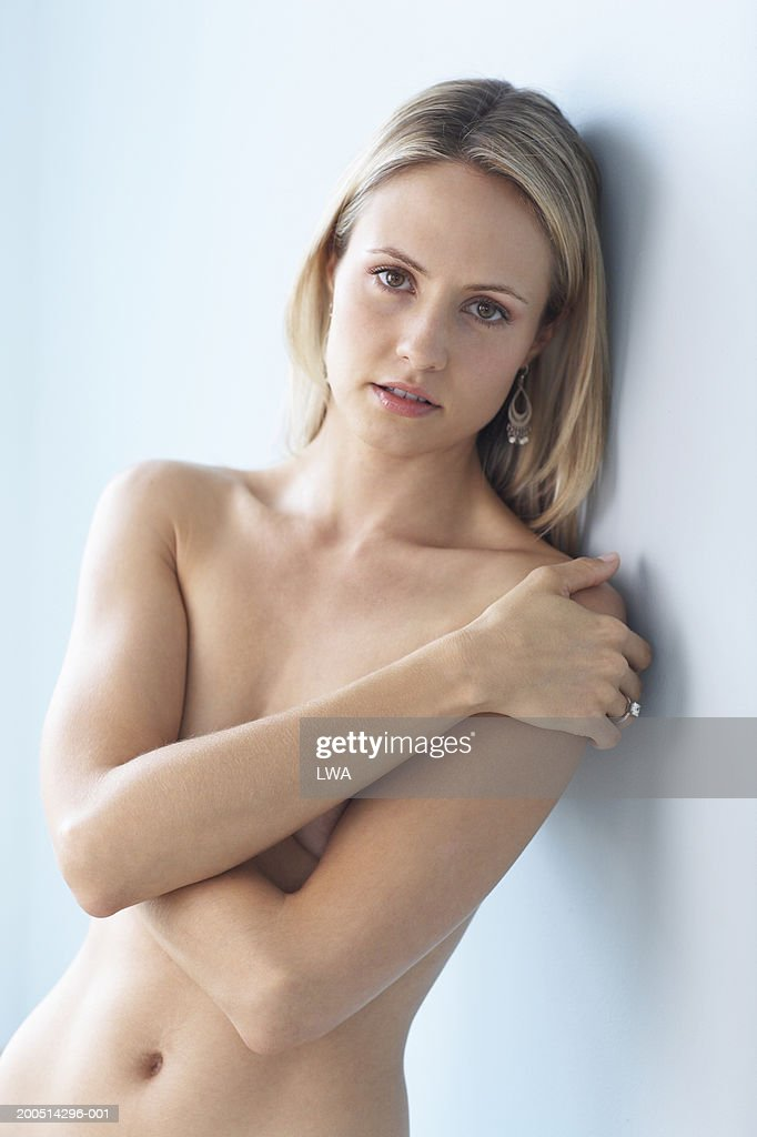 Naked woman breast