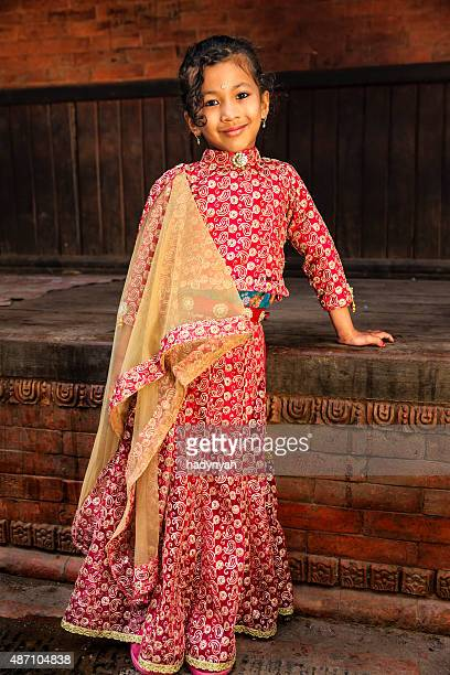 Young Nepali girl in traditional dress